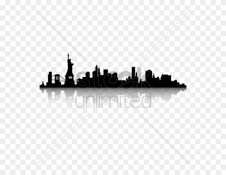 Nyc skyline silhouette clipart black and white clip black and white Image Of Chicago Skyline Clipart - New York City Skyline ... clip black and white
