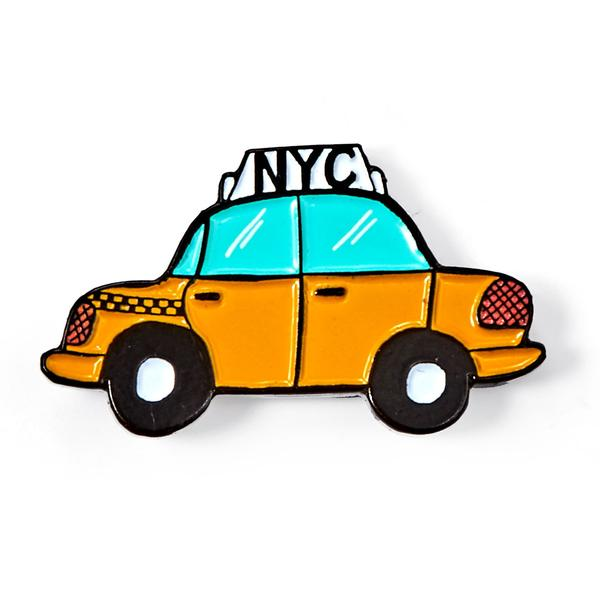 Nyc taxi clipart graphic transparent stock NYC Taxi Enamel Pin graphic transparent stock