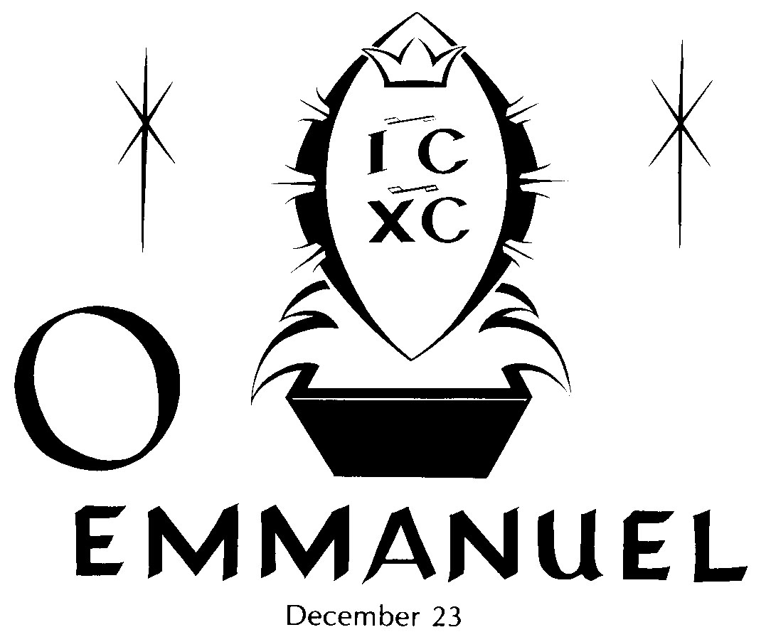 O come o come emmanuel clipart banner black and white library O Antiphons   North Prairie Pastor banner black and white library