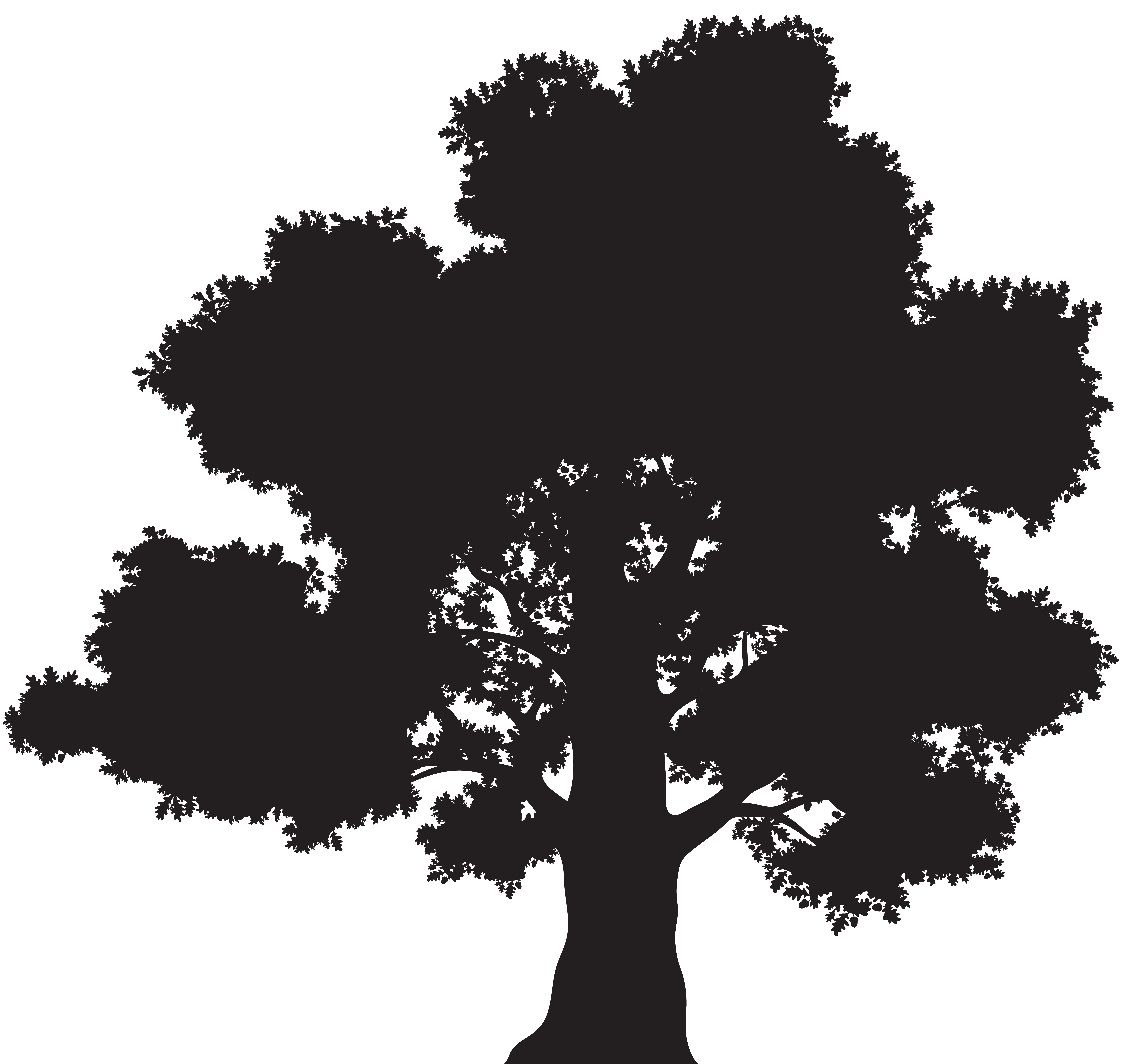 Oak tree clipart silhouette royalty free stock Tree Silhouette PNG Clip Art | Gallery Yopriceville - High-Quality ... royalty free stock