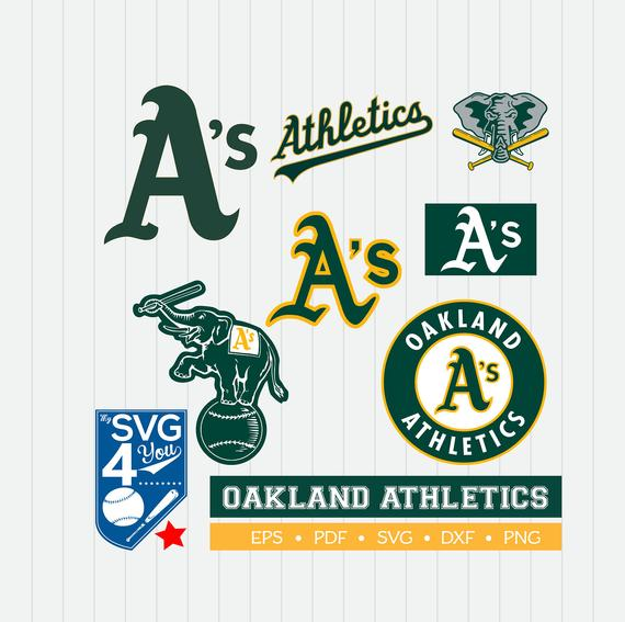 Oakland athletics clipart picture stock Oakland Athletics Cut Files, SVG Files, Baseball Clipart ... picture stock