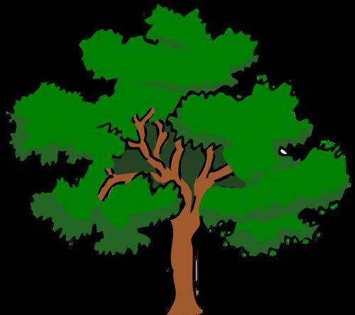 Oaktree clipart jpg Vector clip art of oaktree with wide treetop, | Public ... jpg
