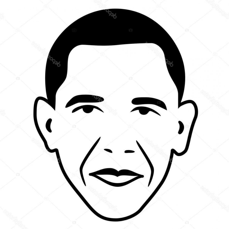 Obama face clipart jpg stock Stock Illustration Barack Obama President Of Usa | SOIDERGI jpg stock