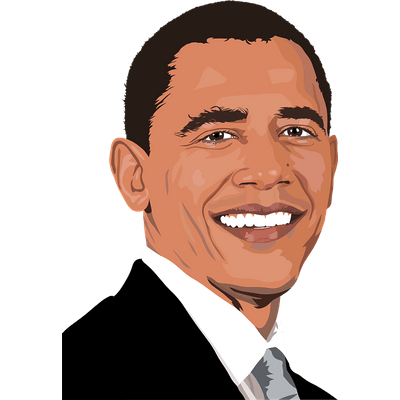Obama face clipart clip art free library Obama transparent PNG images - StickPNG clip art free library