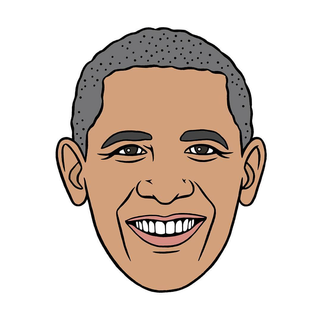 Obama face clipart clip transparent stock President Obama Drawing | Free download best President Obama Drawing ... clip transparent stock