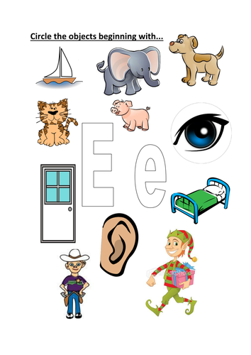 Objects that starts with letter a clipart graphic download circle objects that start with E/e graphic download