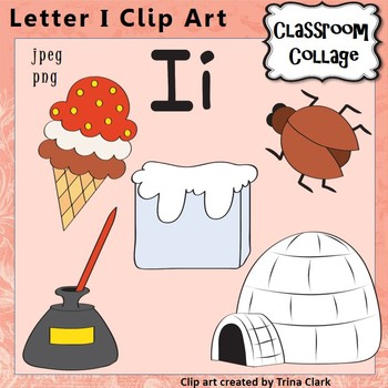 Free downloadable clipart of individual alphabet letters. Clip art letter i