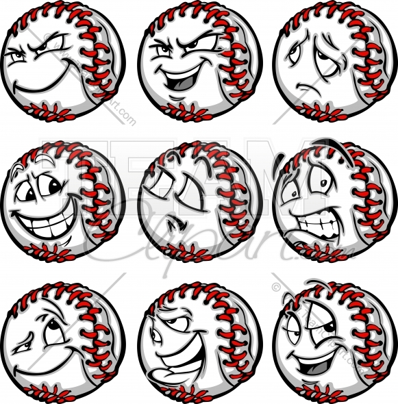 Obnoxious clipart jpg download Smiling Baseball Face Clipart Image. jpg download