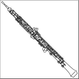 Oboe clipart png Clip Art: Oboe (coloring page) I abcteach.com | abcteach png