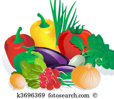 Obst und gemse clipart picture freeuse Gemüse Clipart Illustrationen. 80.040 gemüse Clip Art Vektor EPS ... picture freeuse