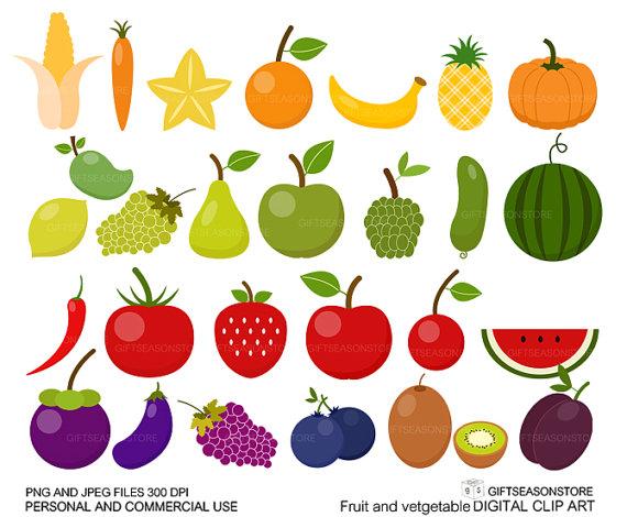 Obst und gemse clipart svg royalty free Fruits and vegetables clipart - ClipartFest svg royalty free
