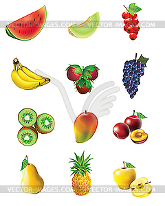 Obst und gemse clipart clip art library stock of fruits and vegetables - vector clipart clip art library stock