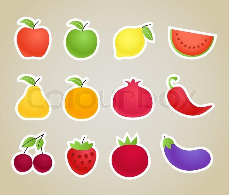Obst und gemse clipart image transparent stock Vector Obst und Gemüse Silhouetten Clip-Art | Vektorgrafik | Colourbox image transparent stock