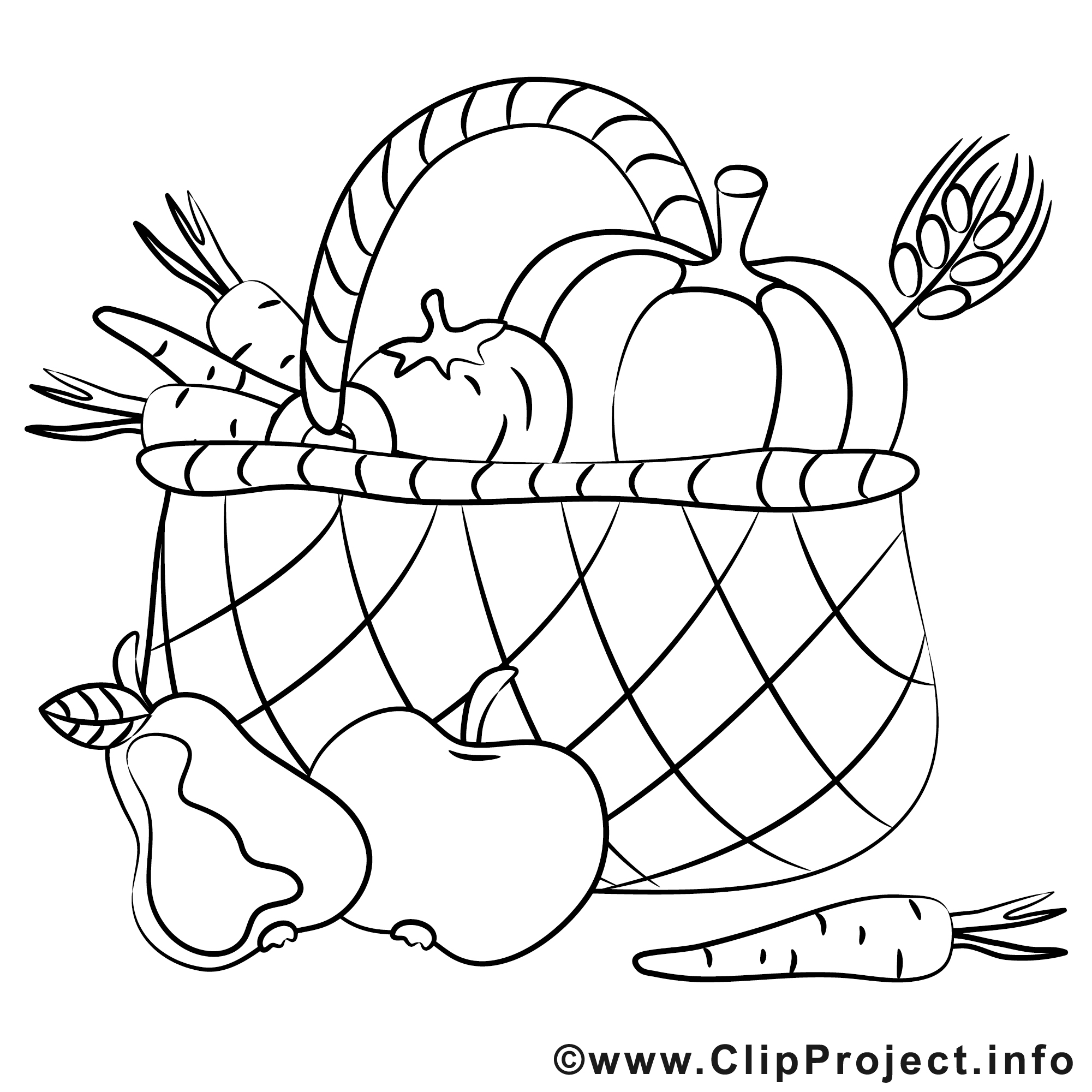 Obst und gemse clipart image royalty free Obst clipart schwarz weiß - ClipartFox image royalty free