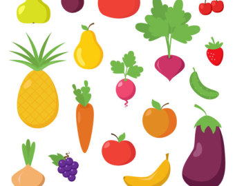 Obst und gemse clipart clip freeuse download Fruit And Vegetables Drawings | Clipart Panda - Free Clipart Images clip freeuse download