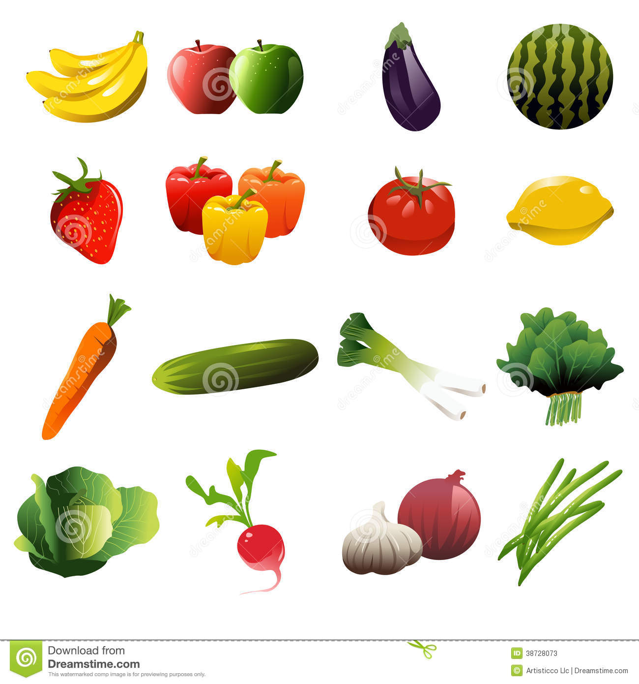 Obst und gemse clipart svg black and white download Red Green Yellow Apples Clip Art Stock Photos, Images, & Pictures ... svg black and white download