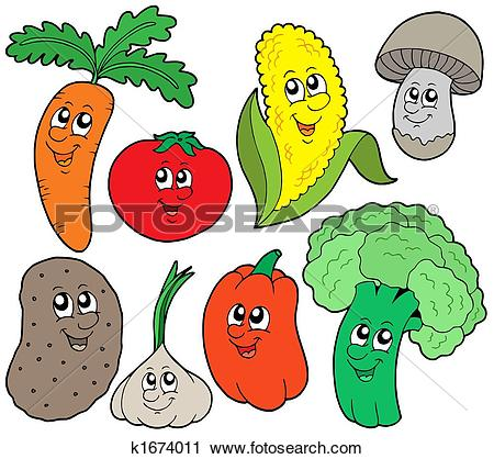 Obst und gemse clipart clip art black and white stock Clip Art of Mushroom and toadstool k1645982 - Search Clipart ... clip art black and white stock
