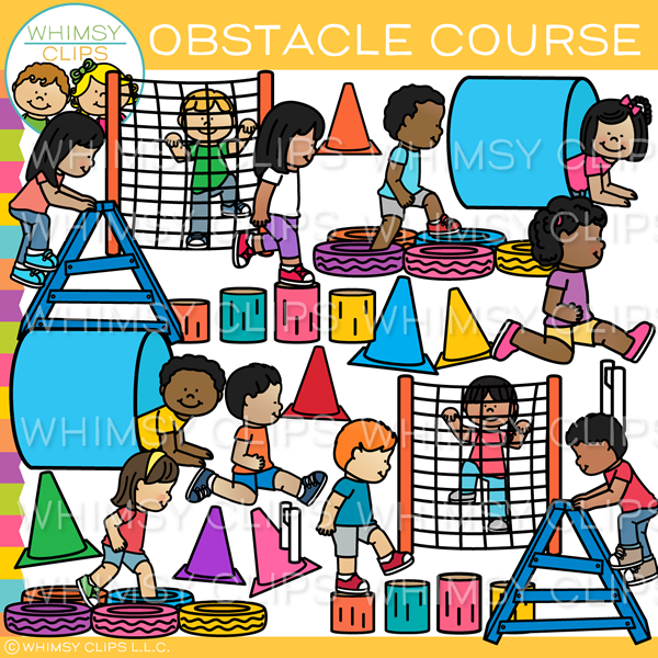 Obstacle course clipart svg download Kids Obstacle Course Clip Art , Images & Illustrations | Whimsy Clips ® svg download