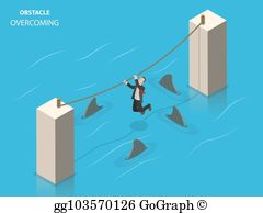 Obstacles clipart clipart freeuse stock Overcome Obstacles Clip Art - Royalty Free - GoGraph clipart freeuse stock