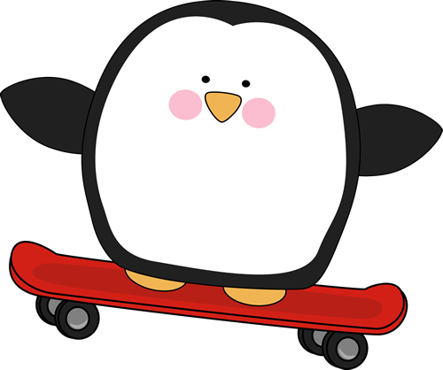 Occasionally clipart svg library stock Penguin On A Skateboard. | Penguin Clip Ar #223413 ... svg library stock