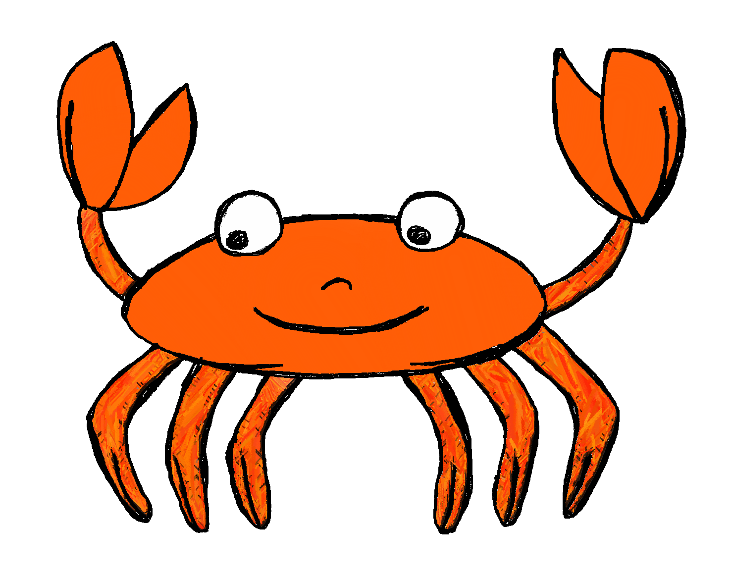 Ocean animals clipart cartoon black and white