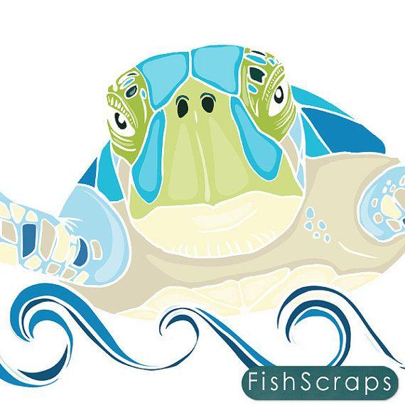 Ocean clipart coastal picture Sea Turtle ClipArt, SeaHorse ClipArt, Ocean Animal Graphics, Under ... picture