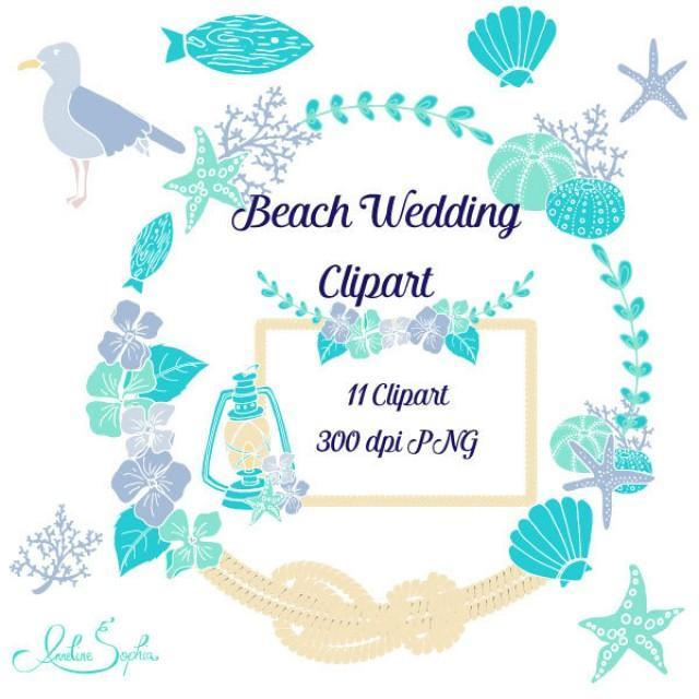 Ocean clipart coastal clipart free library Beach Wedding Clipart Nautical Wedding Invitation Clip Art Sea ... clipart free library