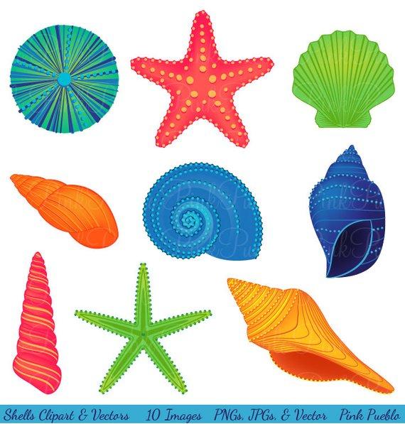 Ocean clipart coastal vector library stock Shells Clipart Clip Art, Beach Ocean Travel Vacation Clip Art ... vector library stock