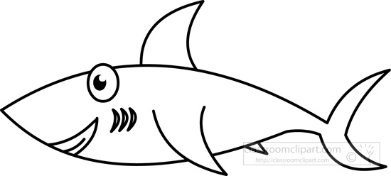 Ocean clipart friendly fish black and white svg stock Black And White Shark Pictures | Free download best Black And White ... svg stock