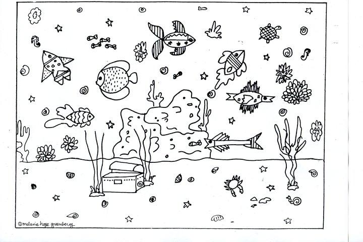 Ocean floor clipart black and white jpg stock 69+ Ocean Clipart Black And White | ClipartLook jpg stock
