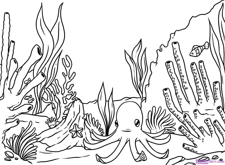 Ocean floor clipart black and white transparent download Ocean Floor Clipart (90+ images in Collection) Page 2 transparent download