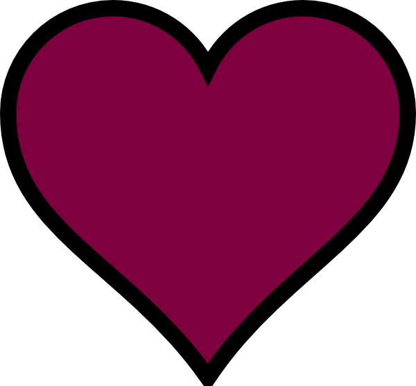 Ocean heart clipart royalty free stock Maroon, Heart, Black, Decor Clip Art at Clker.com - vector clip art ... royalty free stock