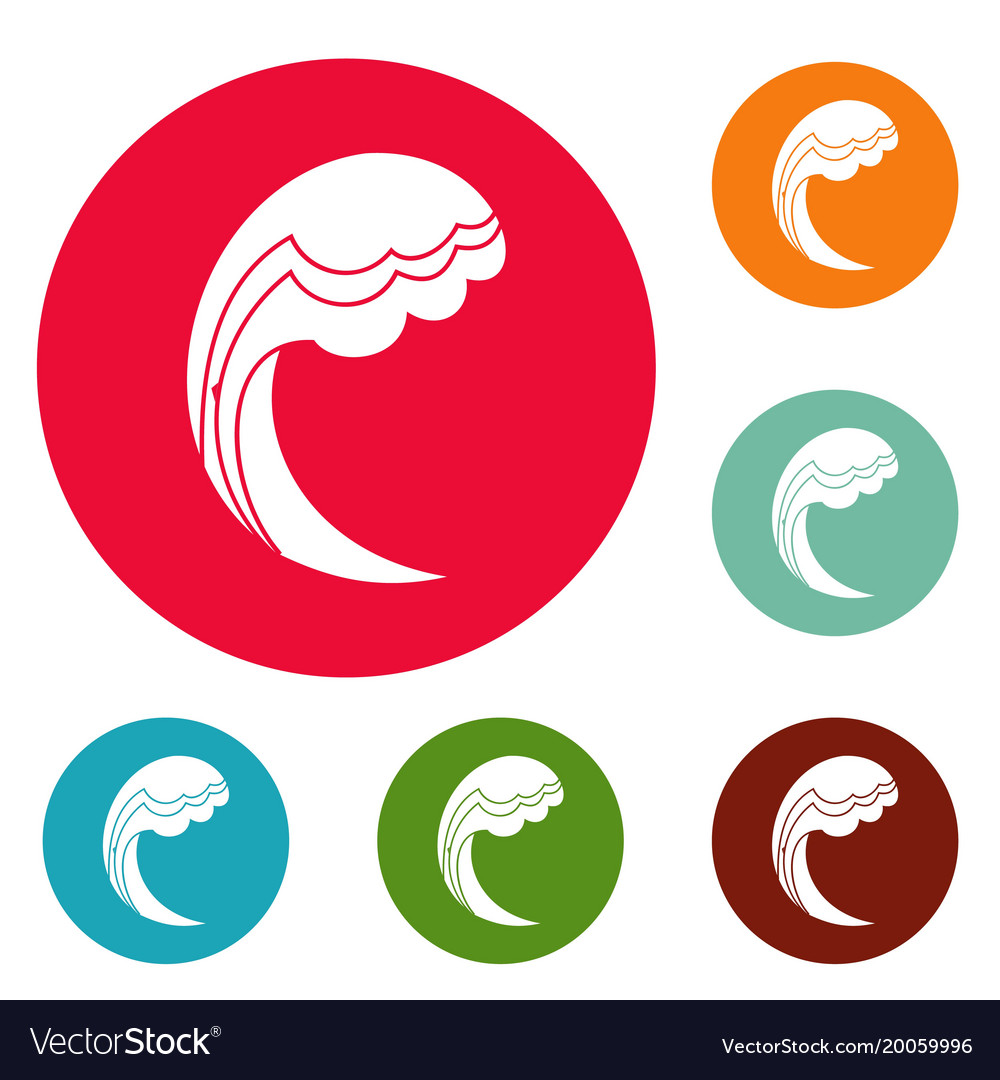 Ocean icon clipart clipart black and white library Wave water ocean icons circle set clipart black and white library