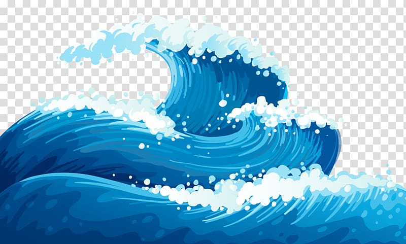 Ocean illustration clipart vector download Wind wave Euclidean Wave , Blue Sea Waves Ground , blue ... vector download