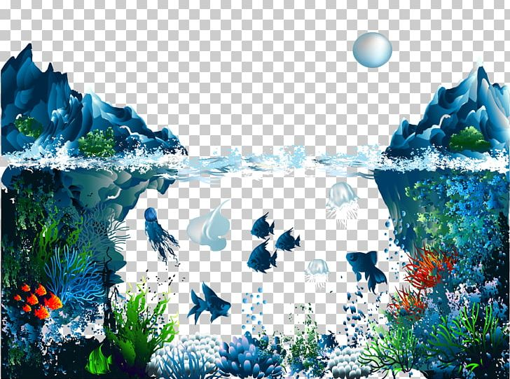 Ocean illustration clipart jpg free download Underwater Illustration PNG, Clipart, Background Vector ... jpg free download