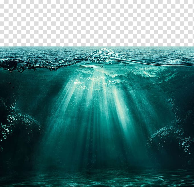 Ocean landscape clipart image free library Selective focus body of water, Light Ocean Underwater Deep ... image free library