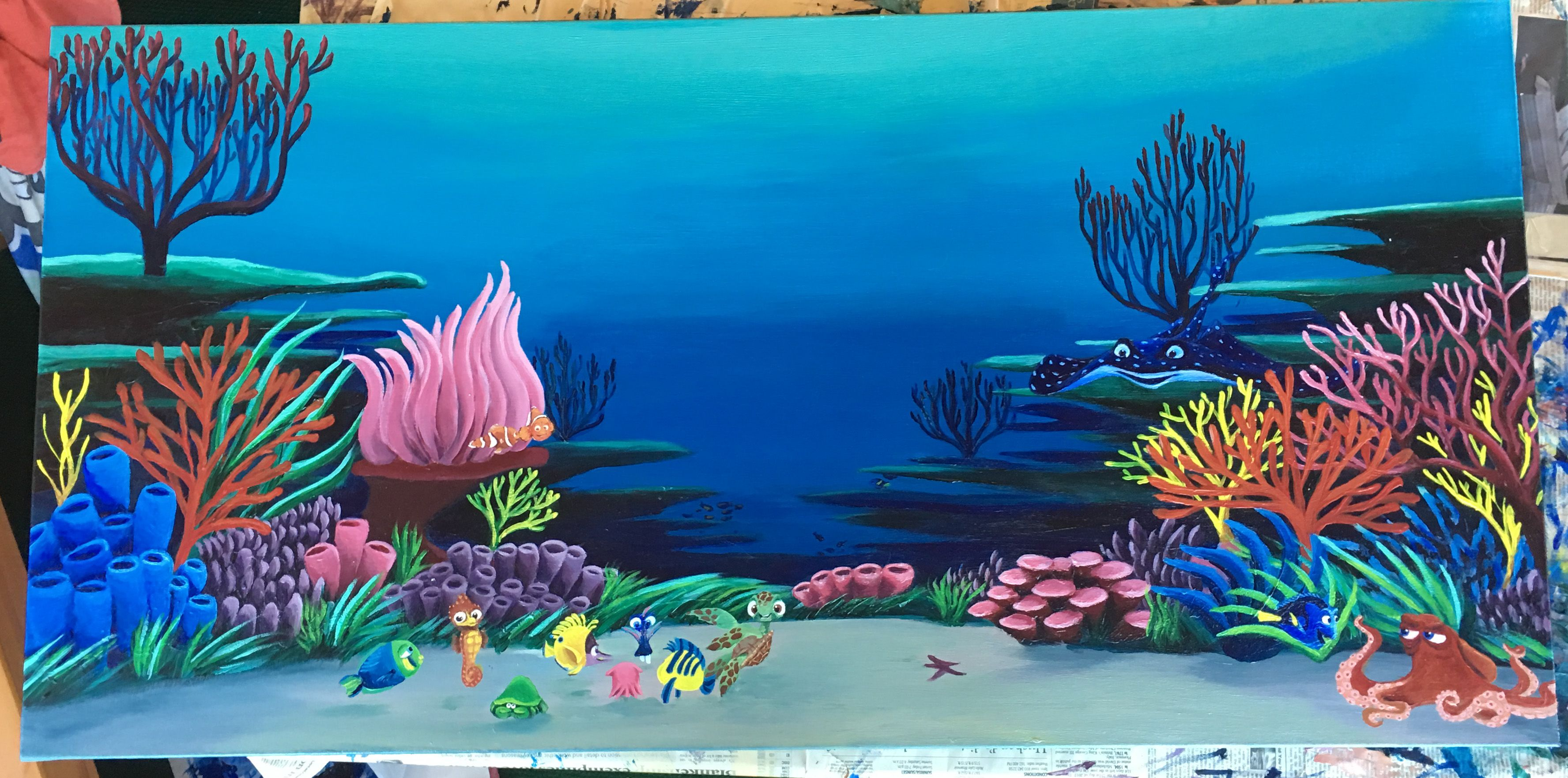 Ocean life in the garden of eden clipart jpg free stock Nemo\'s Reef #coralreef #Nemo #Dory #Disney #Acrylic ... jpg free stock
