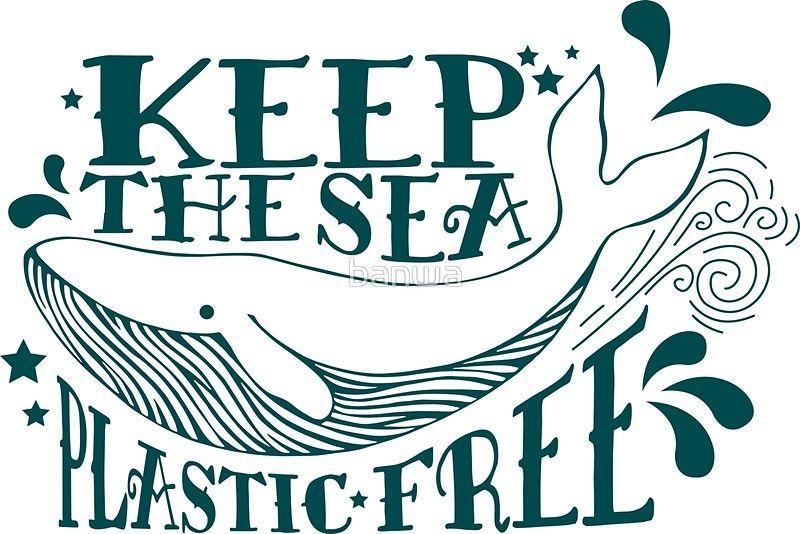 Ocean pollution clipart jpg Keep The Sea Plastic Free Anti-Plastic Ocean Pollution   Sticker in ... jpg