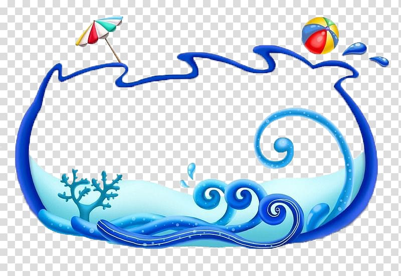 Ocean scroll frame clipart ocean stock Sea Wind wave Circle Marine biology Fundal, Sea frame transparent ... stock