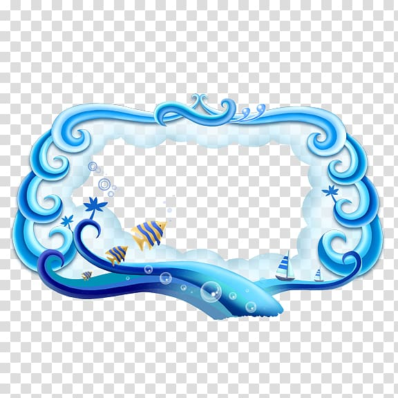 Ocean scroll frame clipart ocean graphic free library Wind wave Template Sea, Sea border transparent background PNG ... graphic free library