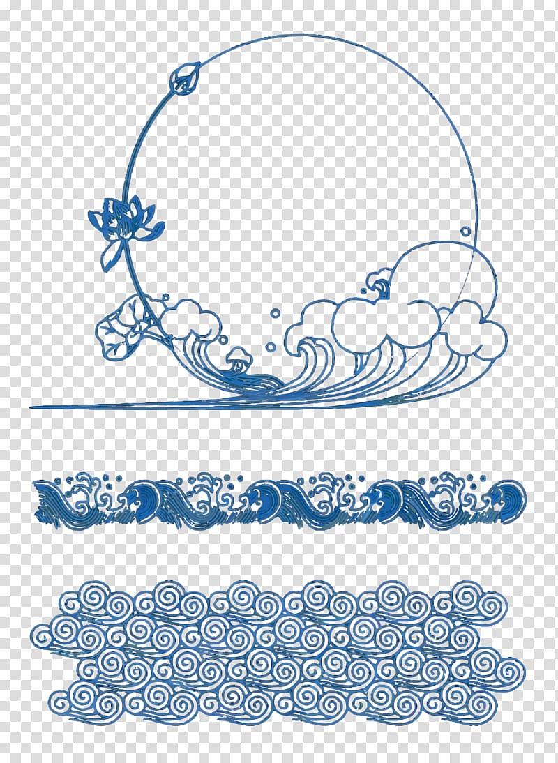 Ocean scroll frame clipart ocean image library download Ocean waves illustration, Wind wave Template Adobe Illustrator, Wave ... image library download