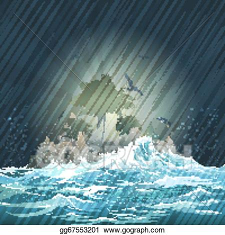 Ocean storm clipart image royalty free stock Vector Stock - The storm. Clipart Illustration gg67553201 - GoGraph image royalty free stock