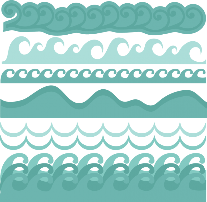 Ocean wave and sun clipart clip black and white library Wave Borders SVG cut files beach svg cut files ocean svg cut files ... clip black and white library