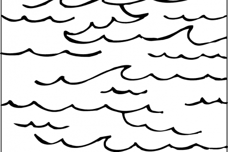 Ocean waves clipart black and white image library library Wave Clipart Black And White | Free download best Wave ... image library library