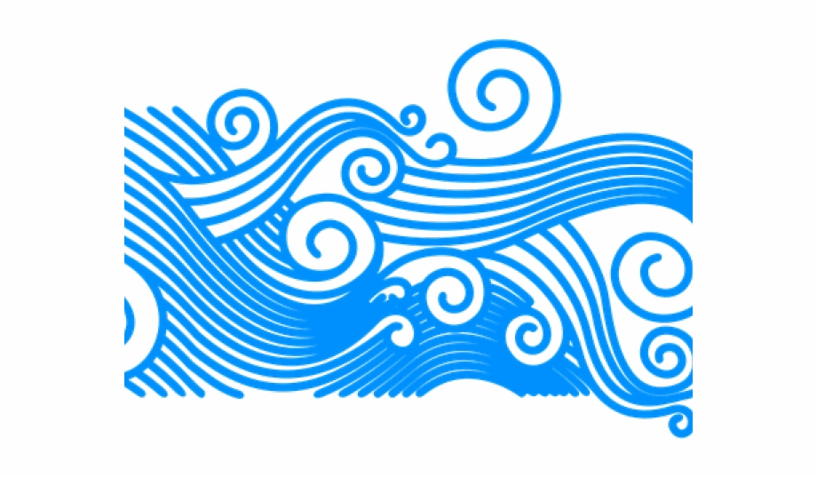 Ocean waves clipart png picture freeuse Wave Clipart Curly - Ocean Waves Transparent Background Free ... picture freeuse