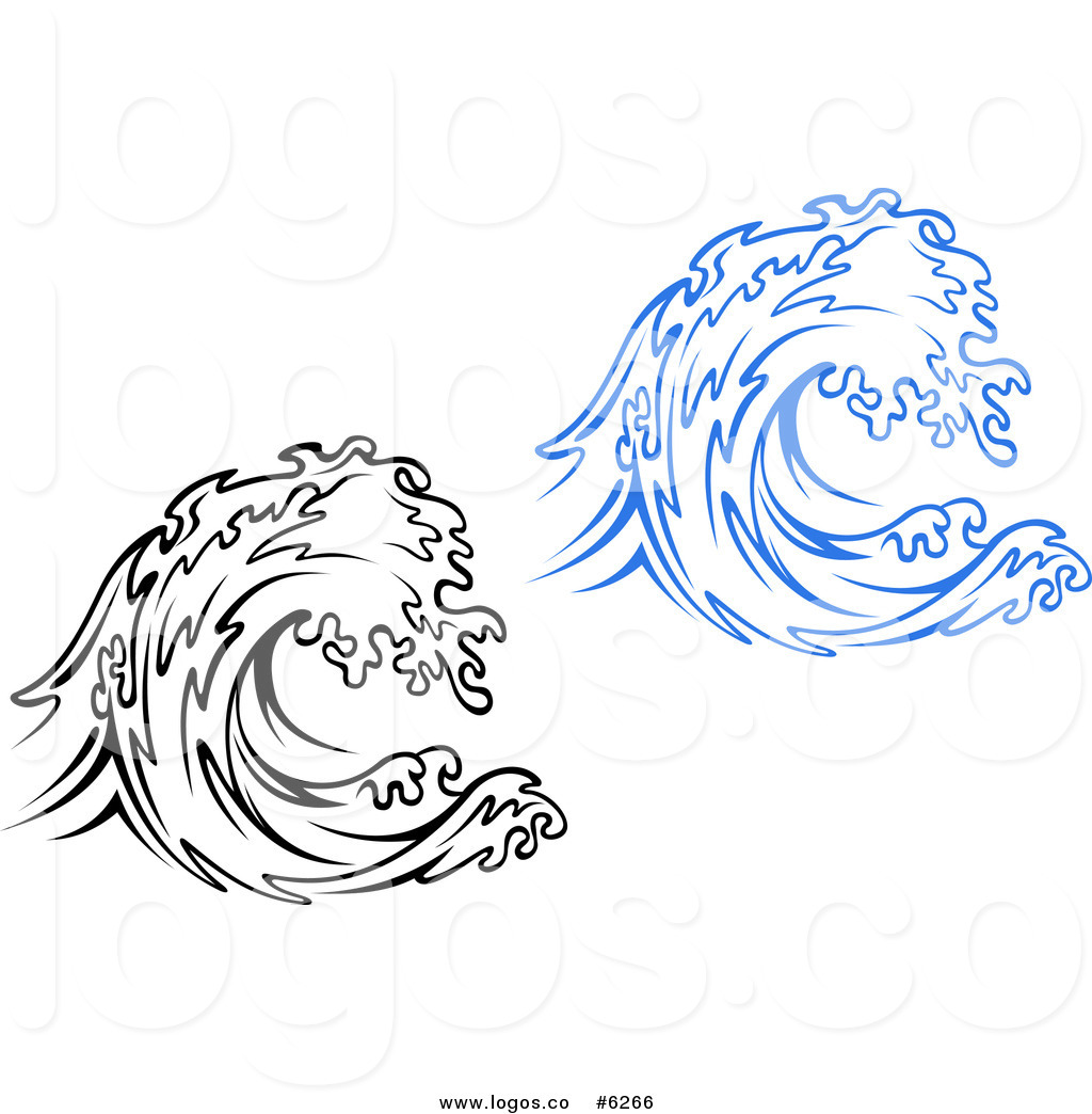 Ocean waves free clipart black and white svg freeuse stock Royalty Free Clip Art Vector Logos of Black and Blue Waves ... svg freeuse stock