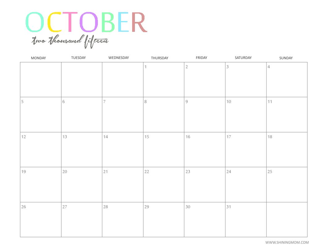 October 1938 calendar clipart vector freeuse Cute october 2015 clipart - ClipartFox vector freeuse