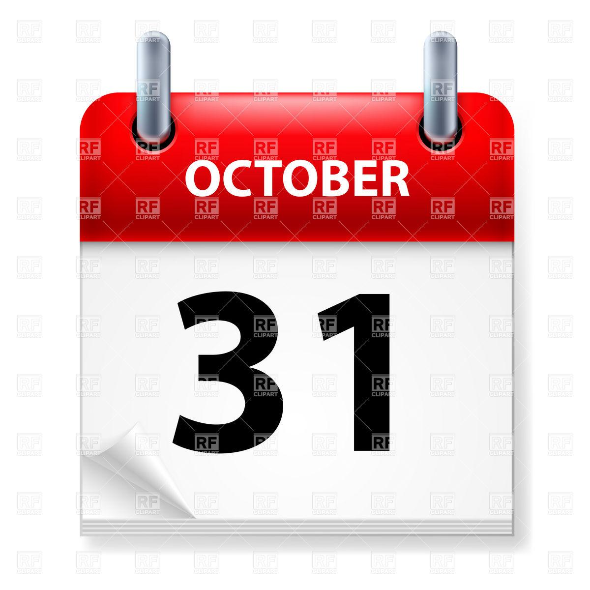 October 1938 calendar clipart svg October 31 - ClipartFox svg