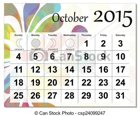 October 2015 calendar clipart vector library library October 2015 calendar clipart - ClipartFox vector library library