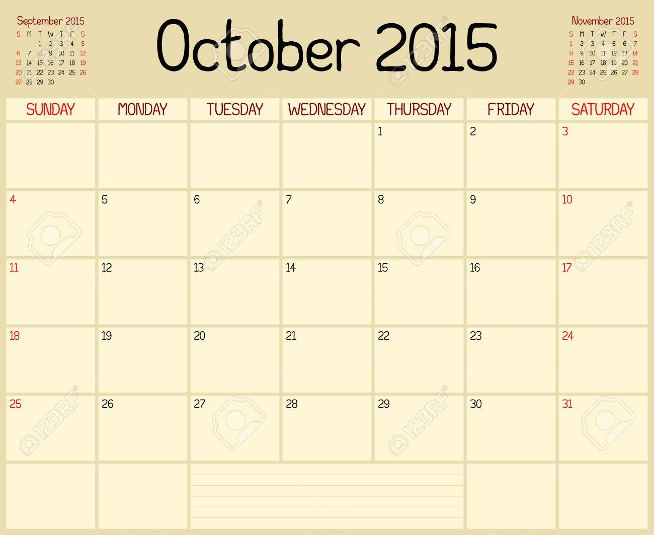 October 2015 calendar clipart freeuse stock October 2015 Calendar Clip Art – 2017 printable calendar freeuse stock